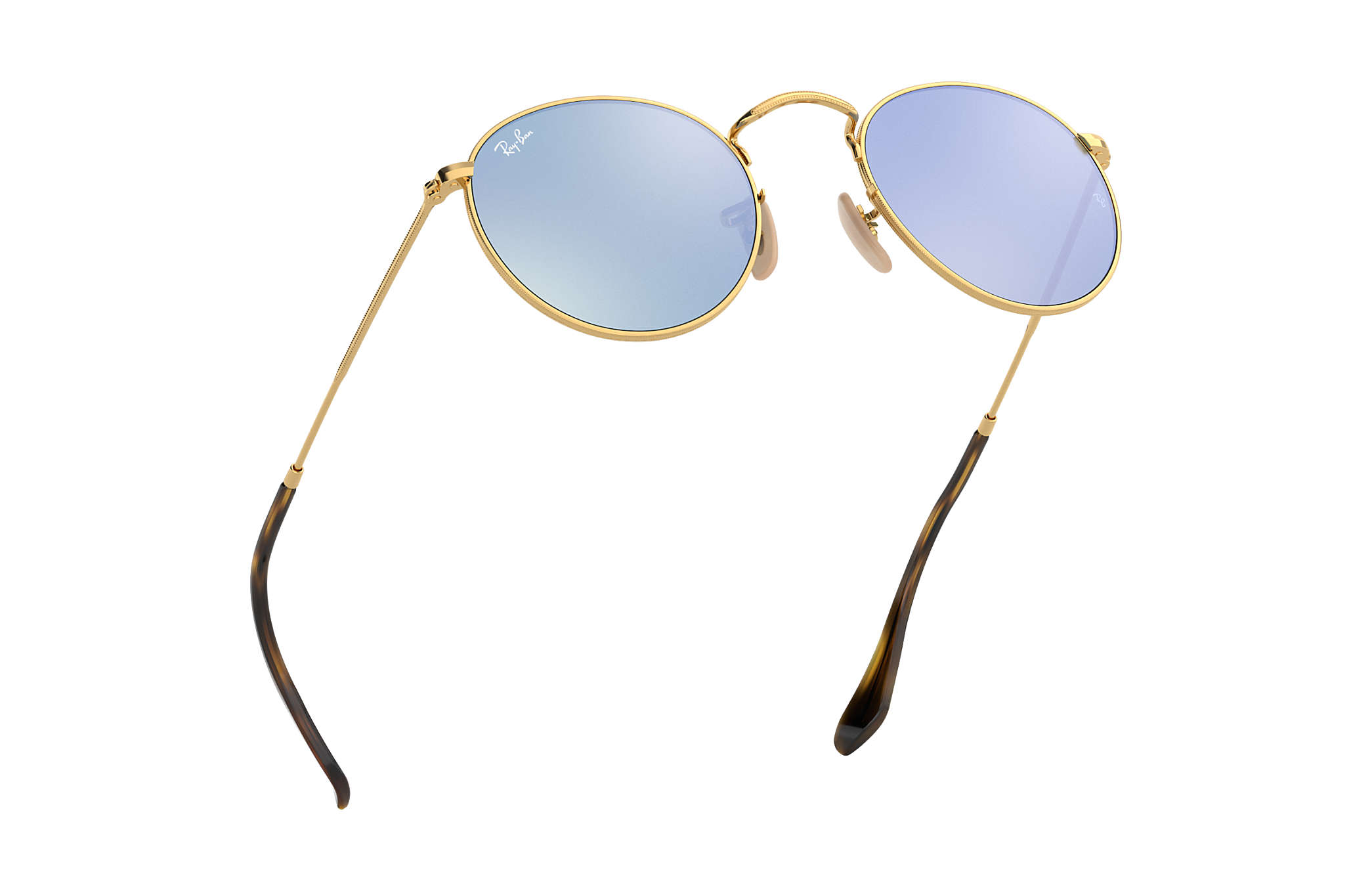 bb13047b00 Ray-Ban Round Flat Lenses RB3447N Gold - Metal - Silver Lenses ...