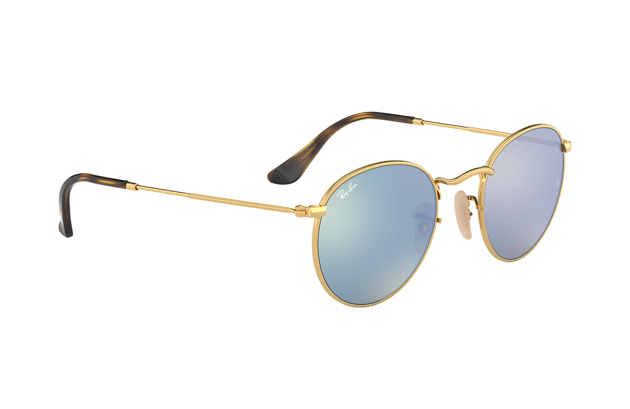 4c2a3b2f3 Ray-Ban Round Flat Lenses RB3447N Gold - Metal - Silver Lenses ...