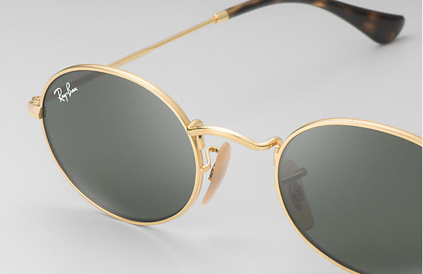 c5848c46e5 Ray-Ban Oval Flat Lenses RB3547N Gold - Metal - Green Lenses ...