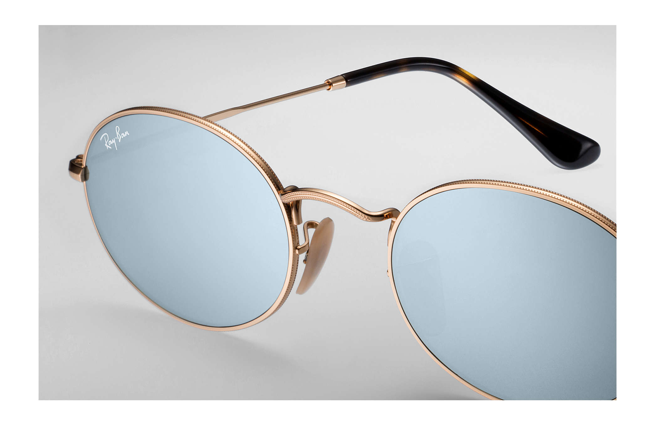 32ff6d233be1d Ray-Ban Oval Flat Lenses RB3547N Gold - Metal - Silver Lenses ...