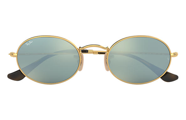 Ray-Ban OVAL FLAT LENSES Gold with Silver Flash lens