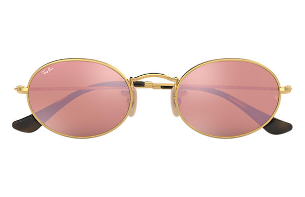 67f63b1ea Ray-Ban Oval Flat Lenses RB3547N Gold - Metal - Copper Lenses ...