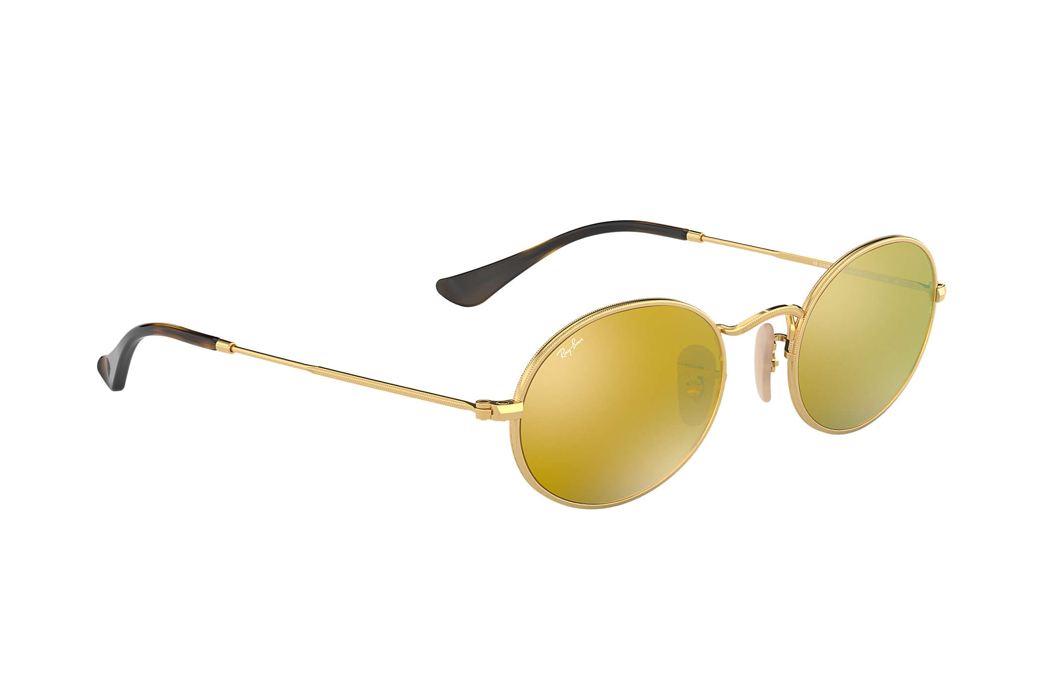 af30ee40a4 Ray-Ban Oval Flat Lenses RB3547N Gold - Metal - Yellow Lenses ...