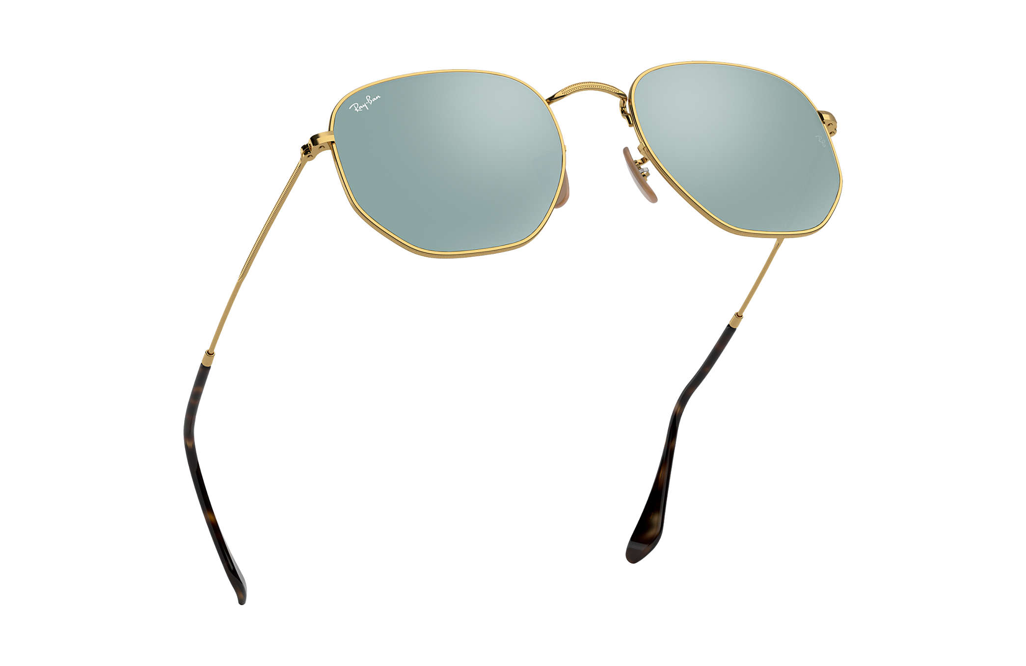 6a28d4bee Ray-Ban Hexagonal Flat Lenses RB3548N Gold - Metal - Silver Lenses ...