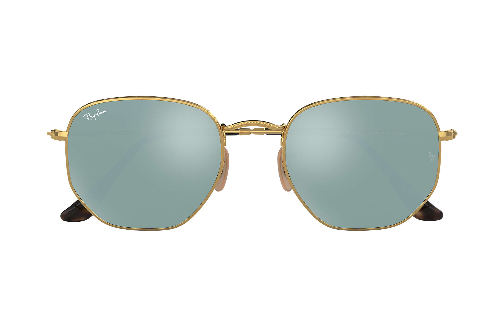 Ray-Ban Hexagonal Flat Lenses RB3548N Gold - Metal - Silver Lenses ... 1f50e33c53