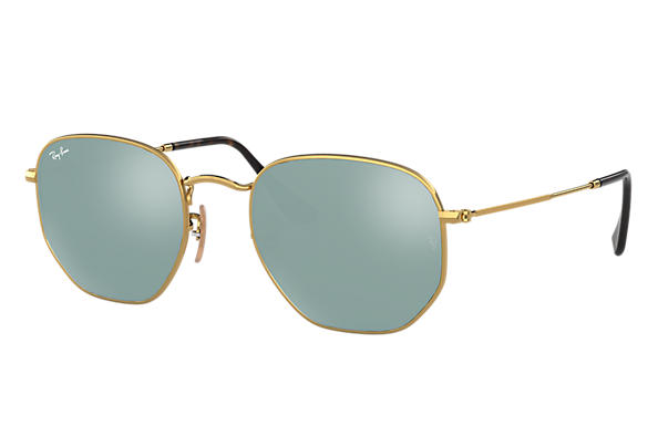 ray ban hexagonal flat lenses rb3548n gold metal silver lenses 0rb3548n0013054 ray ban usa