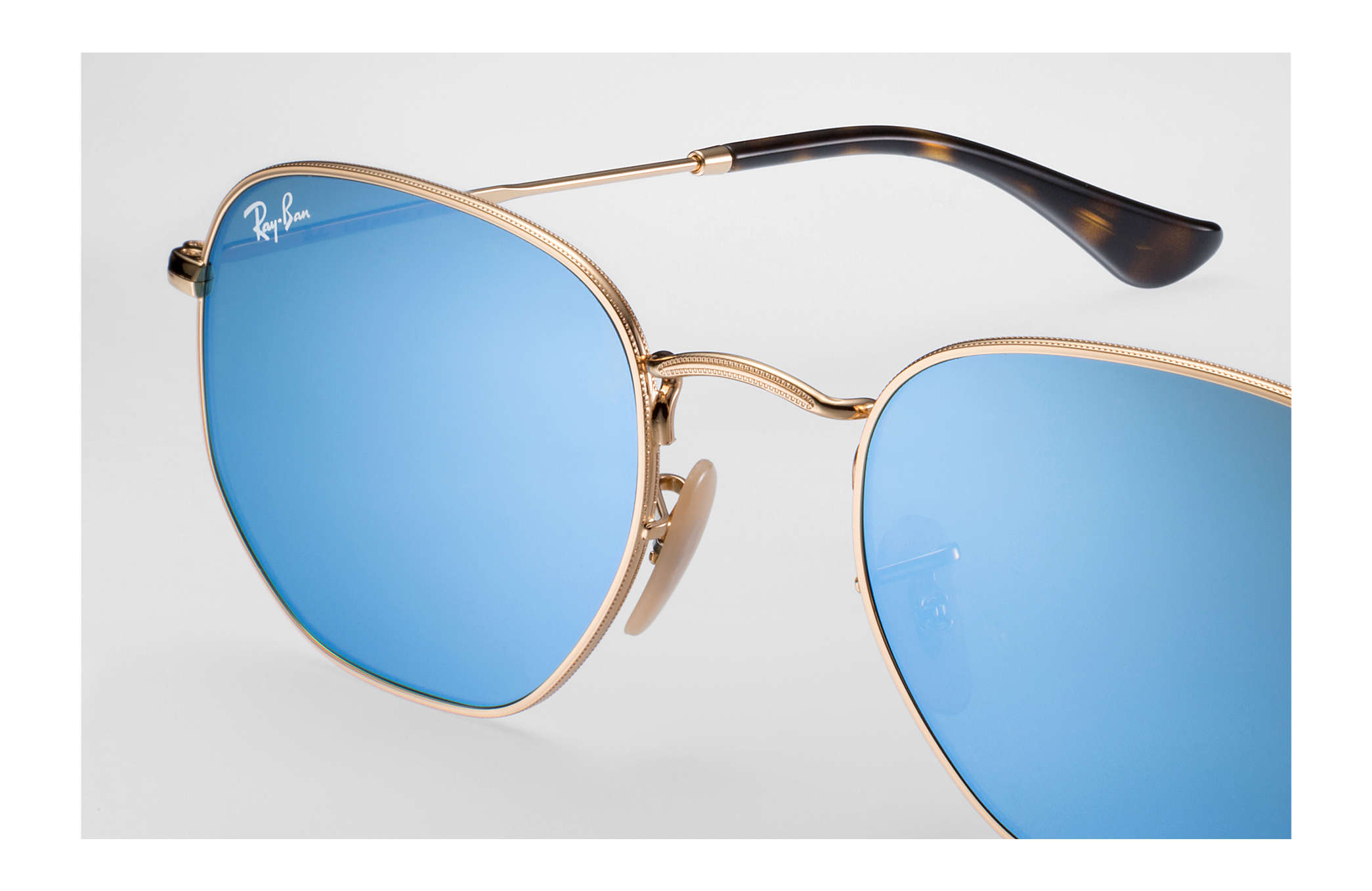 d60b2838332ff Ray-Ban Hexagonal Flat Lenses RB3548N Ouro - Metal - Lentes ...