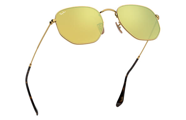 0f7b10e230 Ray-Ban Hexagonal Flat Lenses RB3548N Gold - Metal - Yellow Lenses ...
