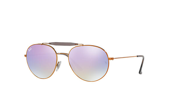 4b95fc692d3 Ray-Ban RB3540 Bronze-Copper - Metal - Light Blue Lenses ...