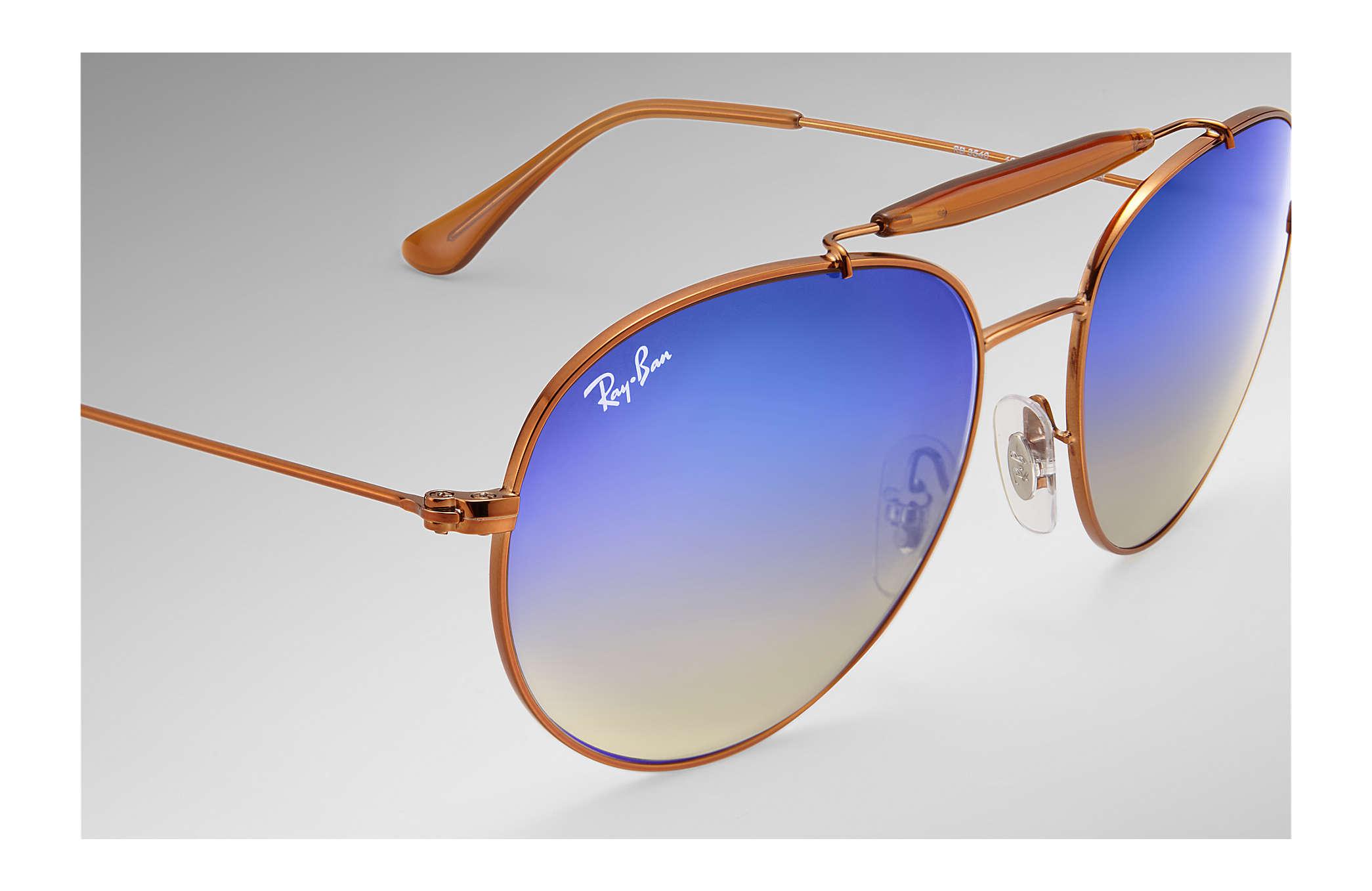 b4630f4f61 Ray-Ban RB3540 Bronze-Copper - Metal - Blue Lenses - 0RB3540198 8B53 ...