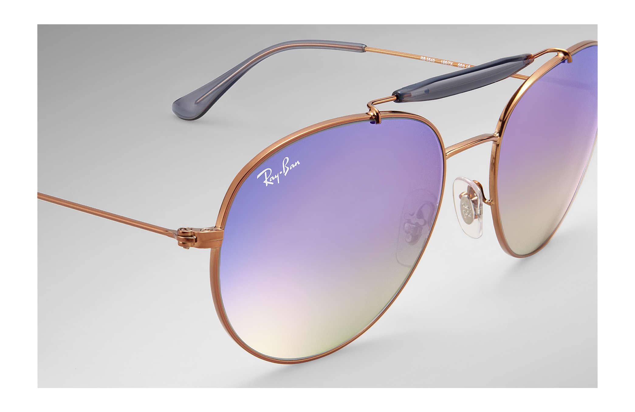 c222e94e71 Ray-Ban RB3540 Bronze-Copper - Metal - Lilac Lenses - 0RB3540198 ...