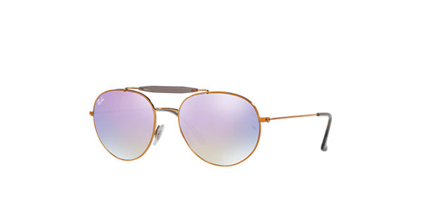 e1b6eaab17af75 Ray-Ban RB3540 Bronze-Copper - Metal - Lilac Lenses - 0RB3540198 7X56   Ray- Ban® USA