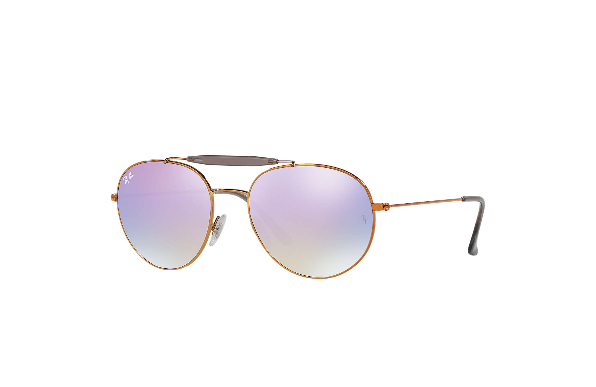 ff264456f6 Ray-Ban RB3540 Bronze-Copper - Metal - Lilac Lenses - 0RB3540198 ...