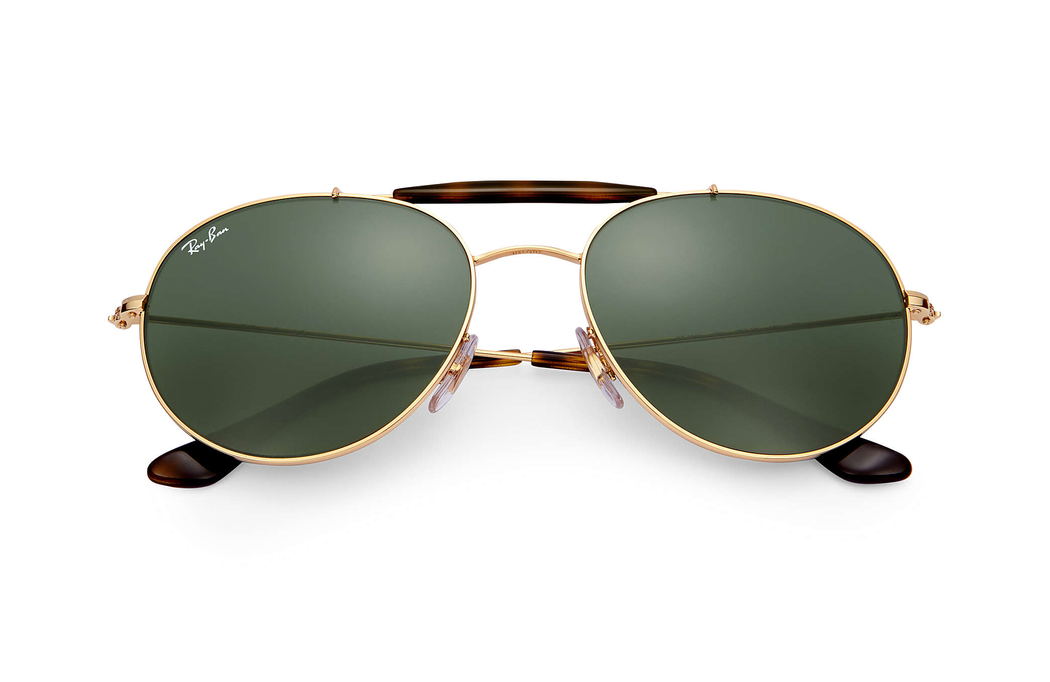 dbfbe4e2cfd70 Ray-Ban RB3540 Gold - Metal - Green Lenses - 0RB354000156