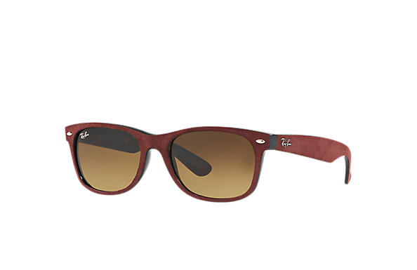 Ray-Ban 0RB2132-NEW WAYFARER with ALCANTARA® Bordeaux,Black SUN