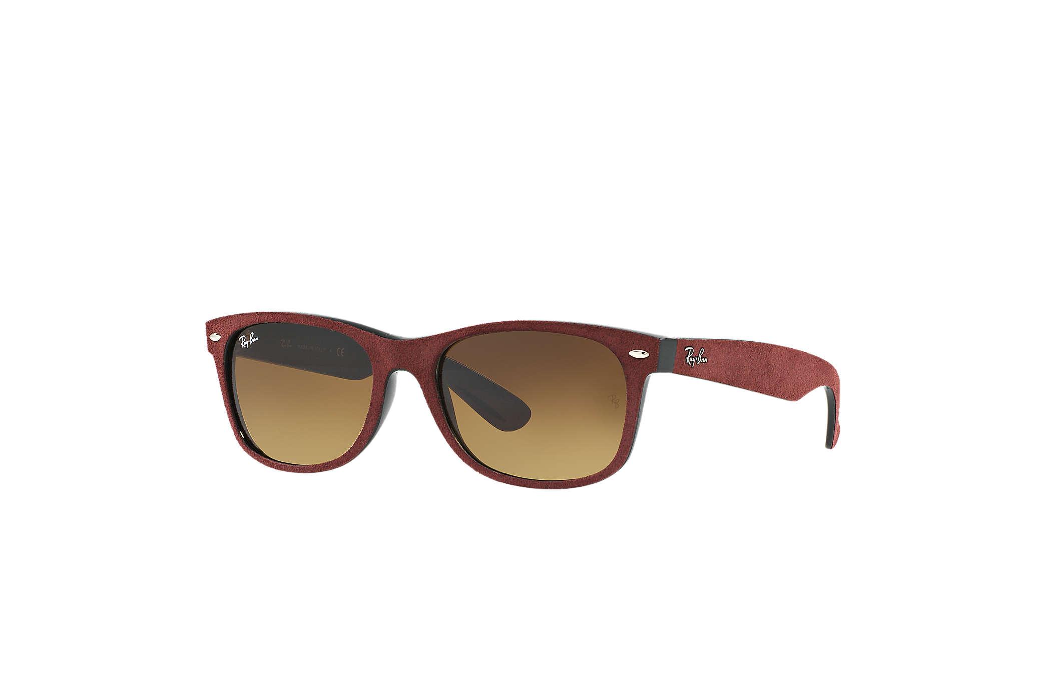 Rb2132 New Wayfarer 624085 Black/top Bordo' Alcantara Brown Gradient 52/18 145 IKzdq