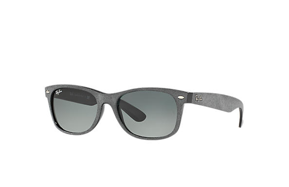 Ray-Ban Sunglasses NEW WAYFARER with ALCANTARA® Grey with Grey Gradient lens