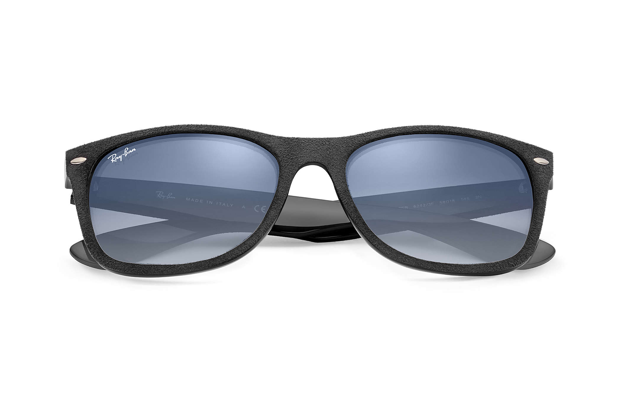 c0094320211 Ray-Ban New Wayfarer With Alcantara® RB2132 Black - Nylon - Light ...