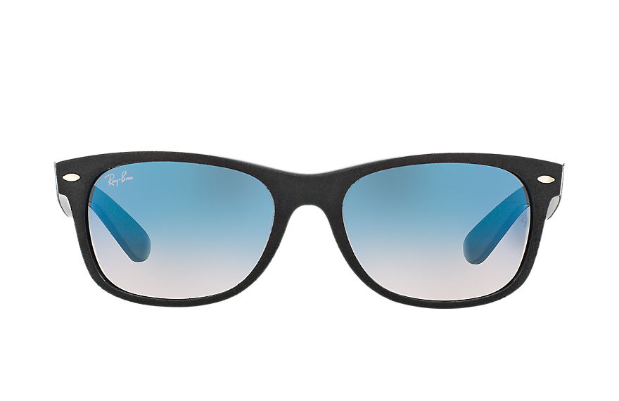 Ray-Ban Sunglasses NEW WAYFARER with ALCANTARA® Black with Light Blue Gradient lens