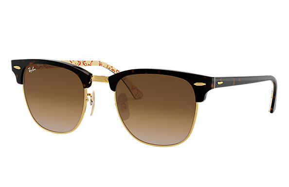 Ray-Ban 0RB3016-CLUBMASTER @Collection Tortoise,Gold; Tortoise,White SUN