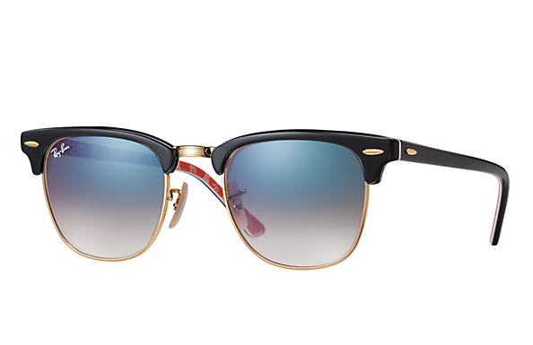 Ray-Ban 0RB3016-CLUBMASTER @Collection Zwart,Goud; Zwart,Rood SUN