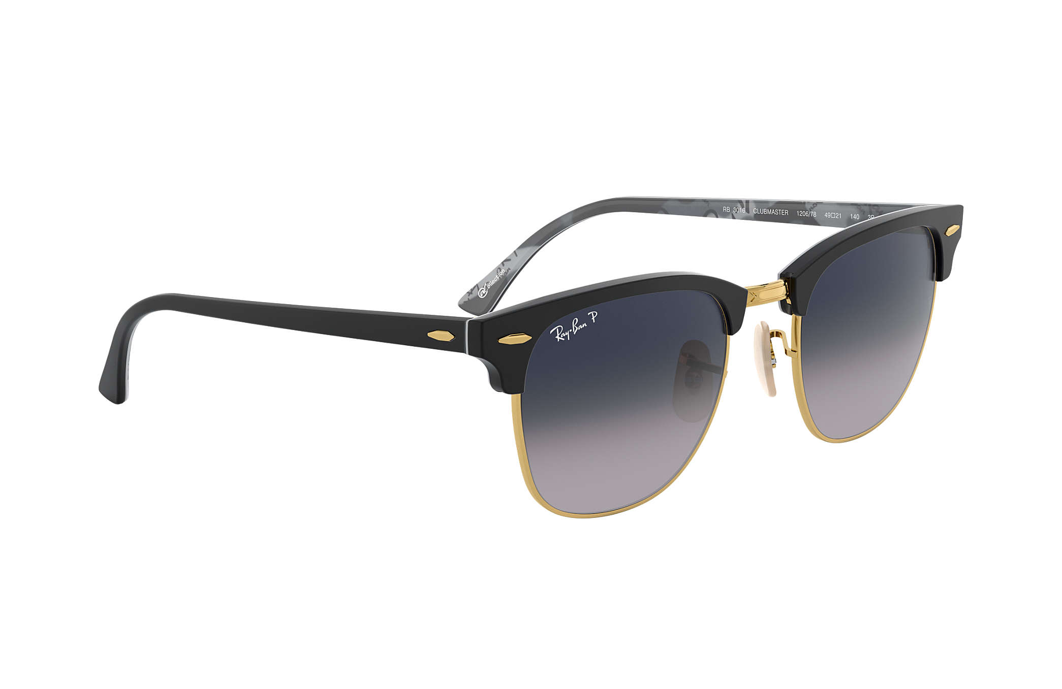 Ray Ban Clubmaster collection Black Polarized Lenses RB3016