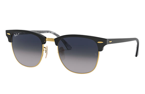 Ray-Ban Clubmaster @Collection Noir avec verres Blue/Grey Dégradé