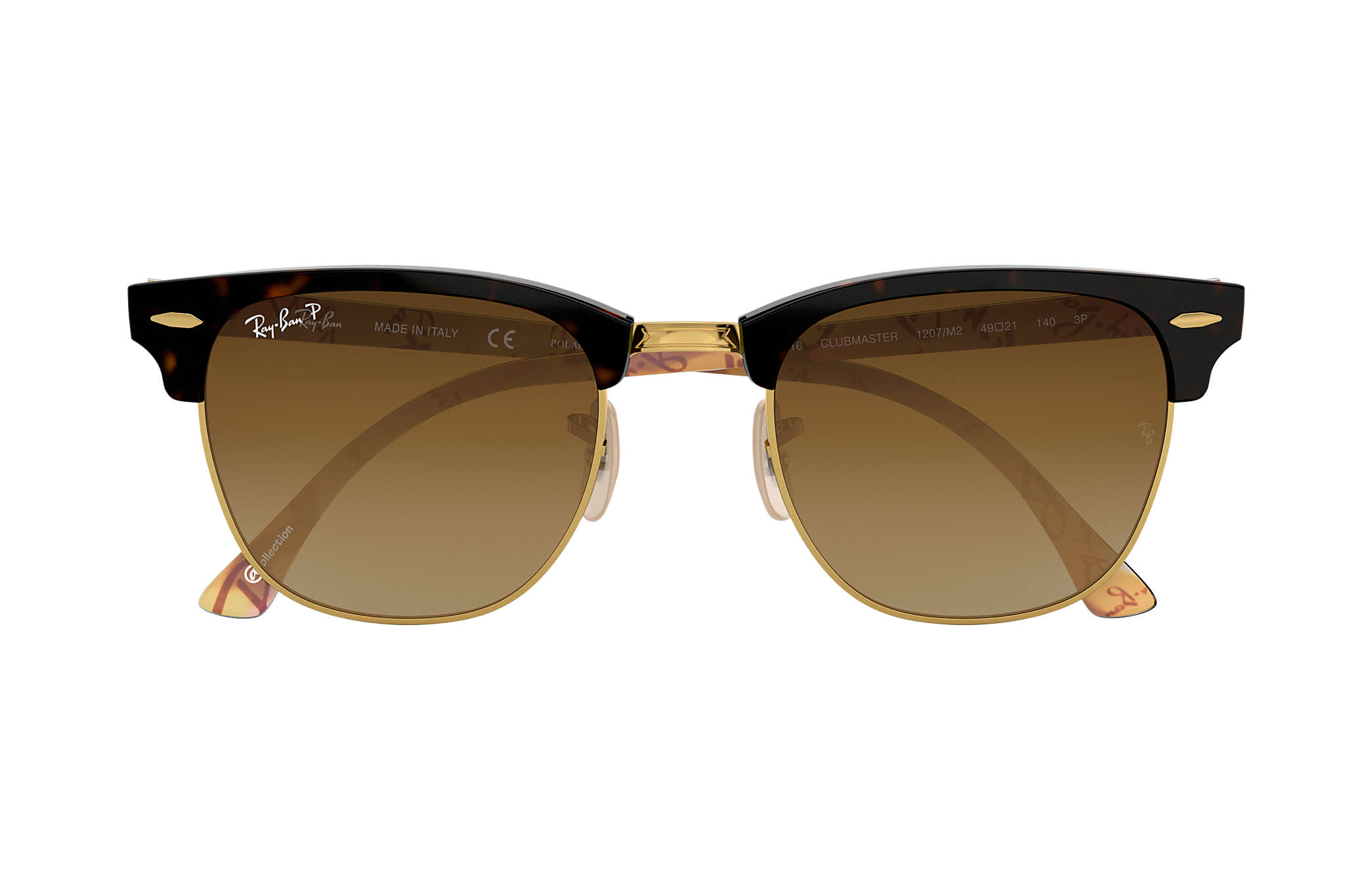 f5bcba19a796 hot ray ban 0rb3016 clubmaster collection tortoisegold tortoisemulticolor  sun 737a2 72dd3