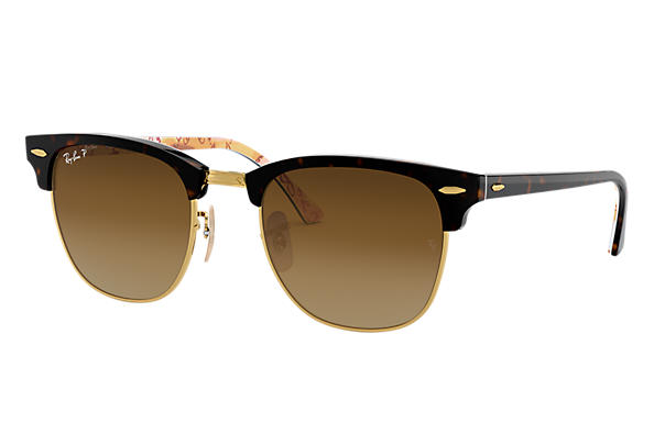 Ray-Ban 0RB3016-CLUBMASTER @Collection Tortoise,Gold; Tortoise,Multicolor SUN