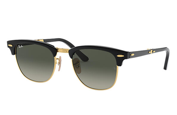 d4c1ed4fa Ray-Ban Clubmaster Folding @collection RB2176 Black - Acetate - Grey ...