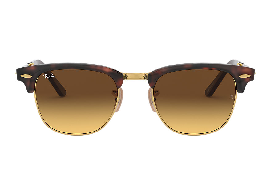 Ray-Ban Gafas-de-sol CLUBMASTER FOLDING @COLLECTION Carey con lente Marrón Degradada