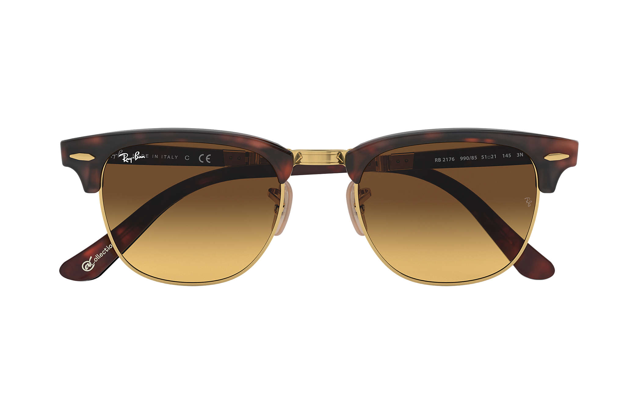 977f0536a9 ... Ray-Ban 0RB2176-CLUBMASTER FOLDING  COLLECTION Tortoise  Gold SUN ...
