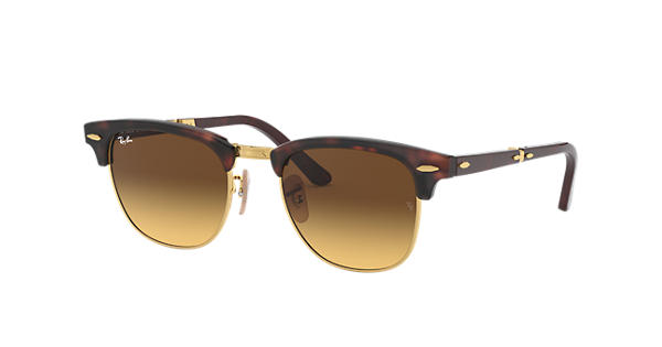 Ray Ban Clubmaster Folding Collection Rb2176 Tortoise