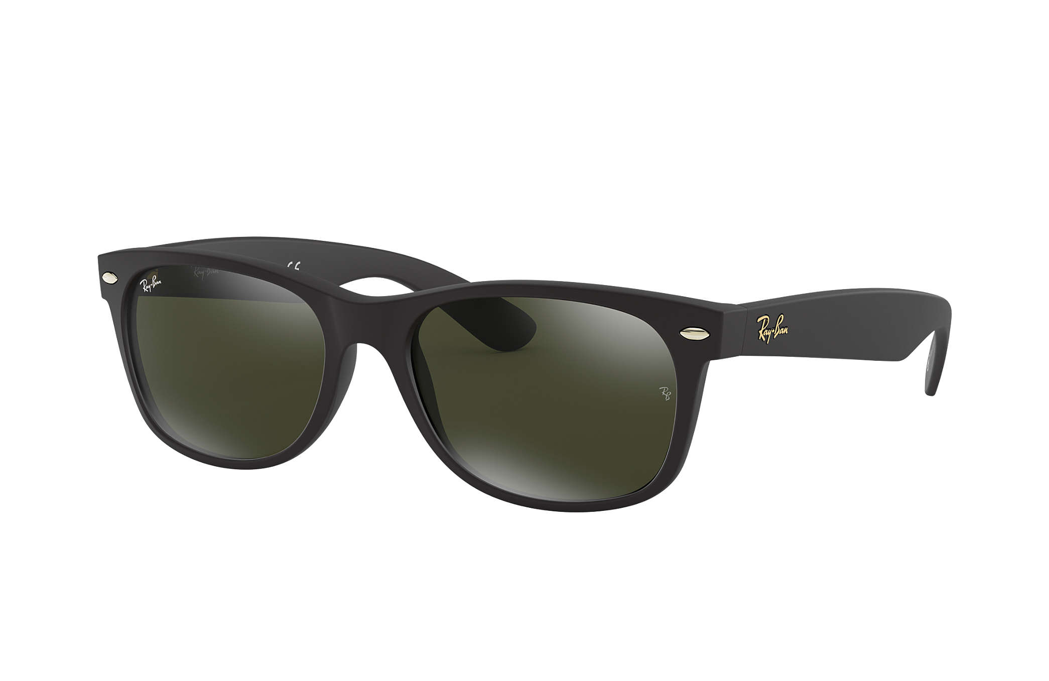 Ray-Ban New Wayfarer  collection RB2132 Black - Nylon - Silver ... 69d8eac1168cc