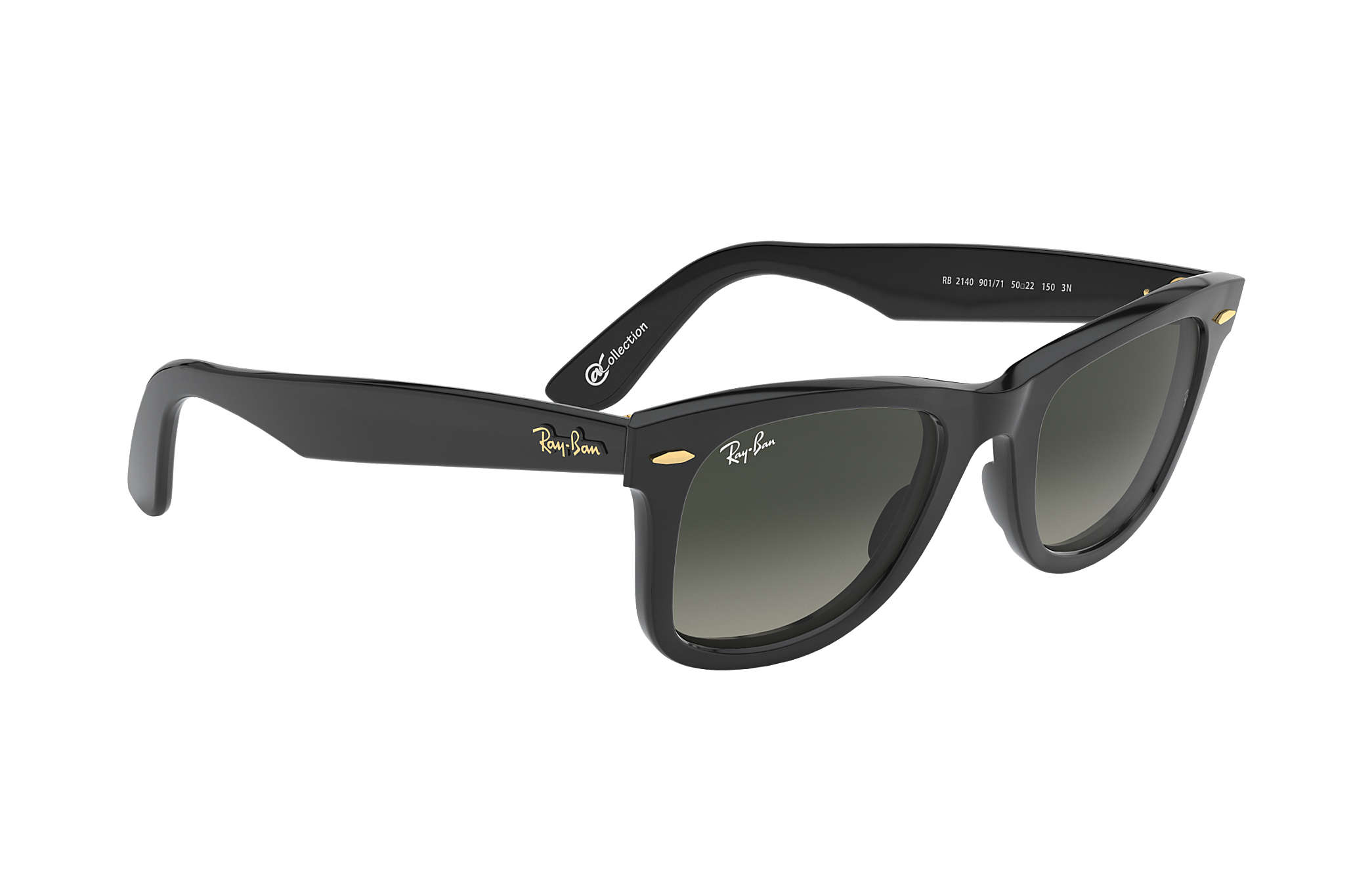 Ray-Ban Original Wayfarer  collection RB2140 Black - Acetate - Grey ... 80ad7e94fe838