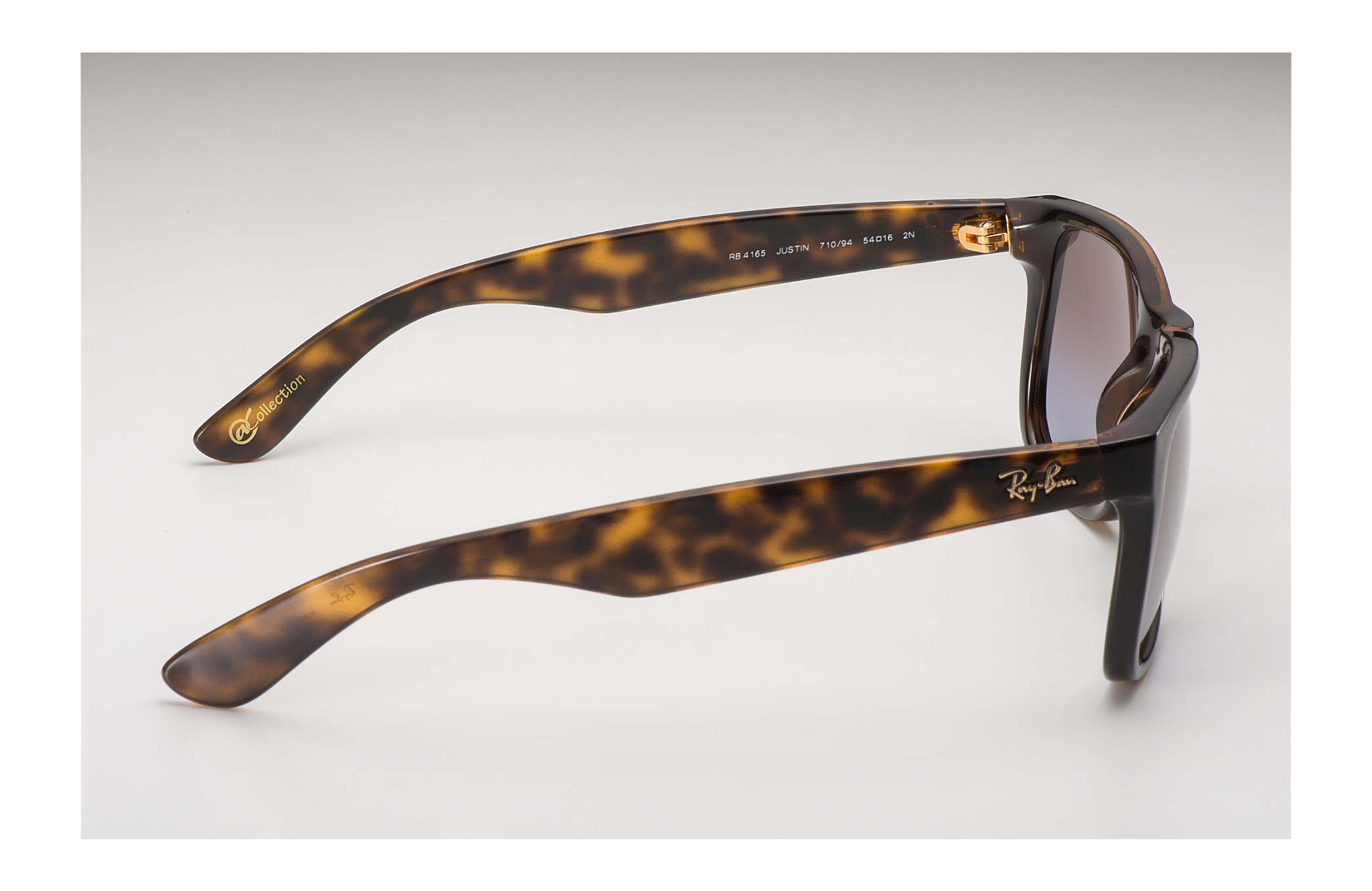 ec87ef291dd Ray-Ban Justin  collection RB4165 Tortoise - Nylon - Brown Violet ...