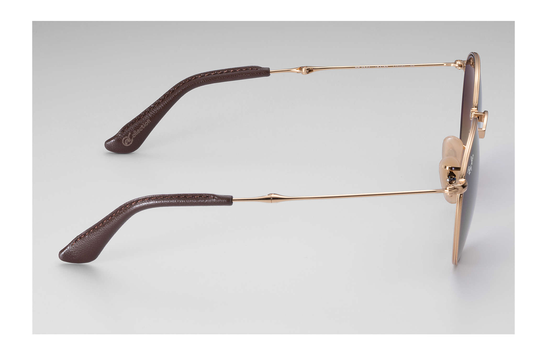 71cdfcca0 Ray-Ban Round Folding @collection RB3532 Gold - Metal - Brown Lenses ...
