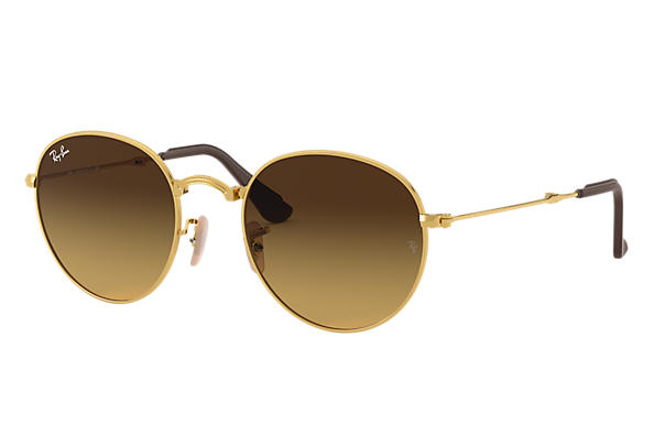Ray-Ban 0RB3532-ROUND FOLDING @COLLECTION Gold SUN