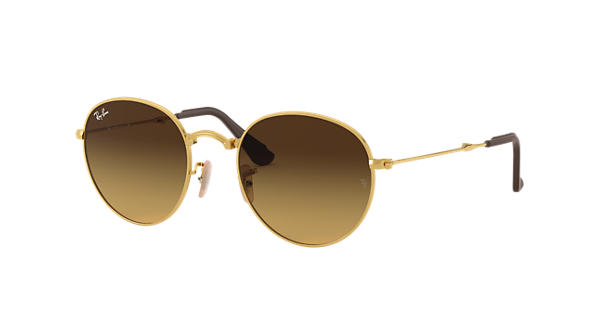 01af8b8893 Ray-Ban Round Folding  collection RB3532 Gold - Metal - Brown Lenses -  0RB3532183 8550