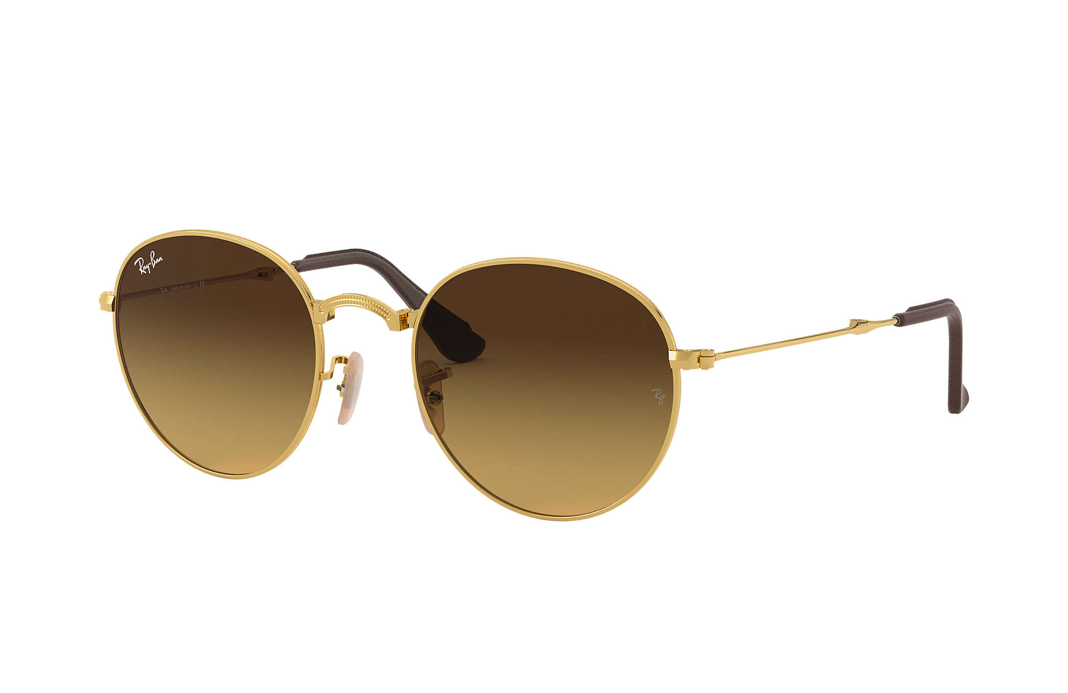 0928d41e9b Ray-Ban Round Folding @collection RB3532 Gold - Metal - Brown Lenses ...