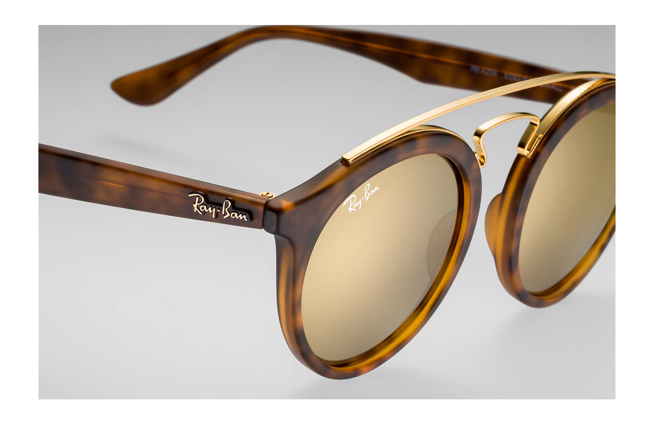 07717f0a25b Ray-Ban Rb4256 Gatsby I RB4256 Tortoise - Propionate - Gold Lenses ...