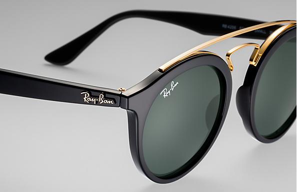 ba81f8453872ec Rb4256 Gatsby I Ray-Ban RB4256 Noir - Propionate - Verres Vert ...