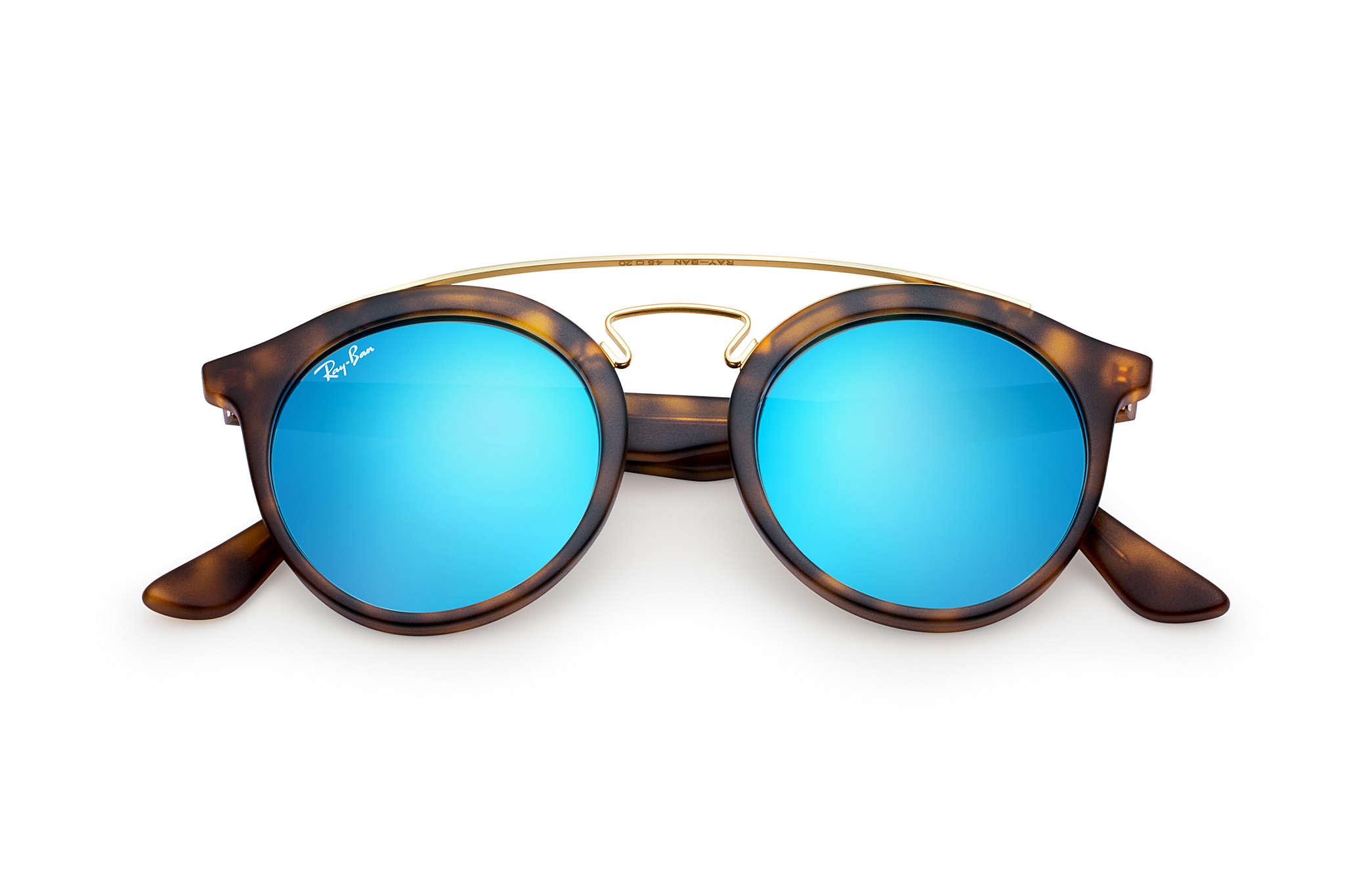 8ffbf89fbf9fa Ray-Ban Rb4256 Gatsby I RB4256 Tortoise - Propionate - Blue Lenses ...