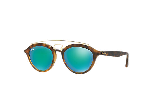 Ray-Ban Sunglasses RB4257 GATSBY II Tortoise with Green Mirror lens