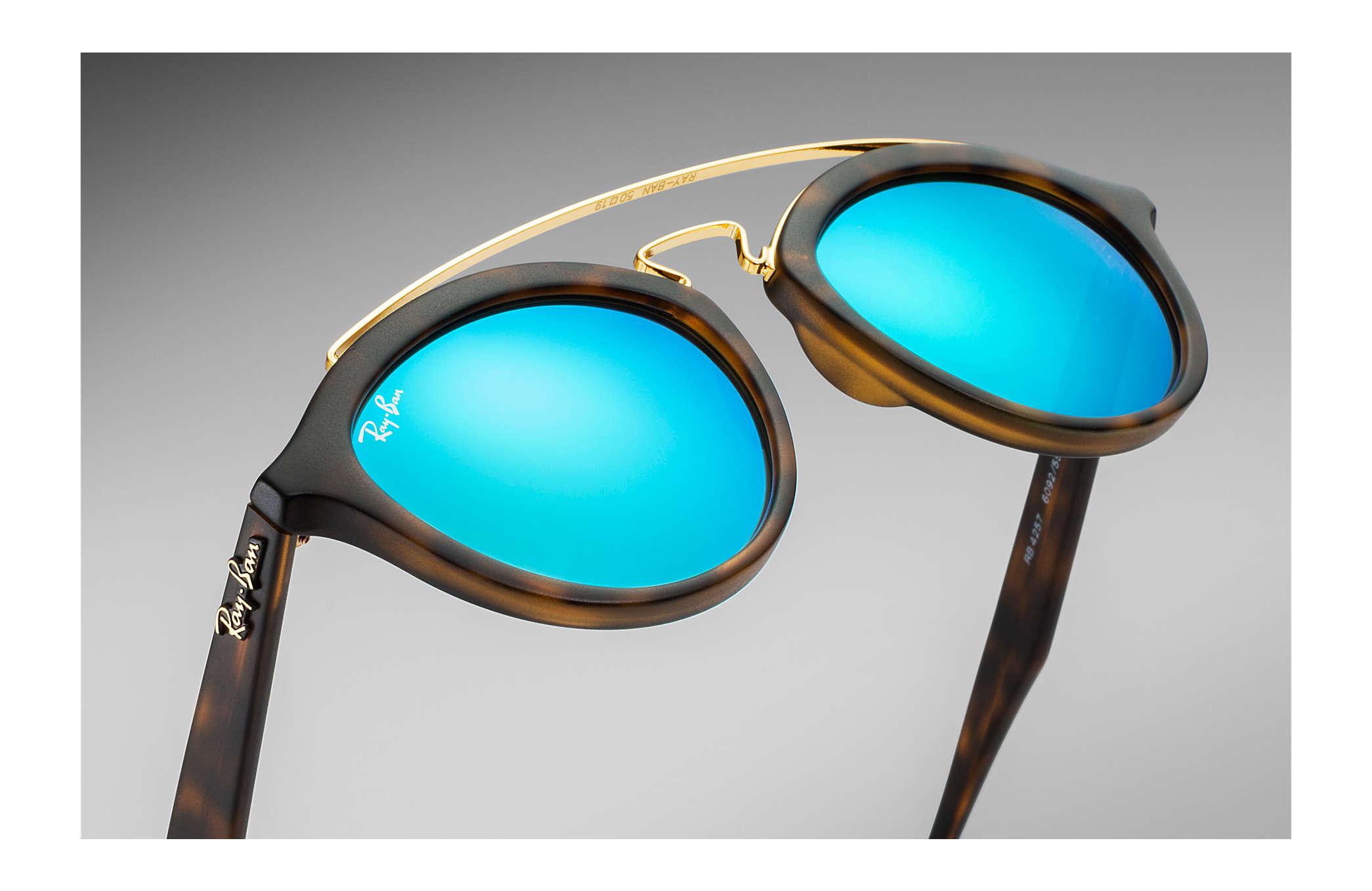 efc527ab0 Ray-Ban Rb4257 Gatsby Ii RB4257 Tortoise - Propionate - Blue Lenses ...