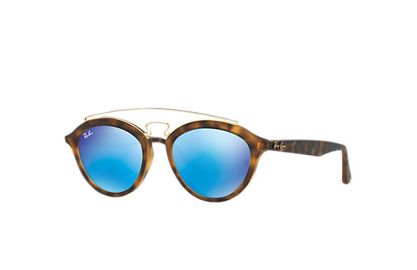 Ray-Ban Sunglasses RB4257 GATSBY II Tortoise with Blue Mirror lens