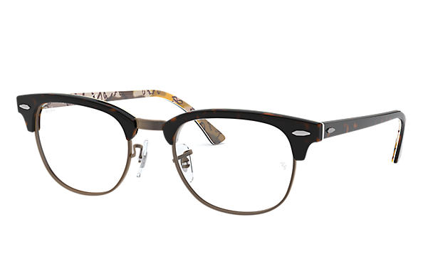 Ray-Ban 0RX5154-Clubmaster Optics Tortoise,Multicolor OPTICAL