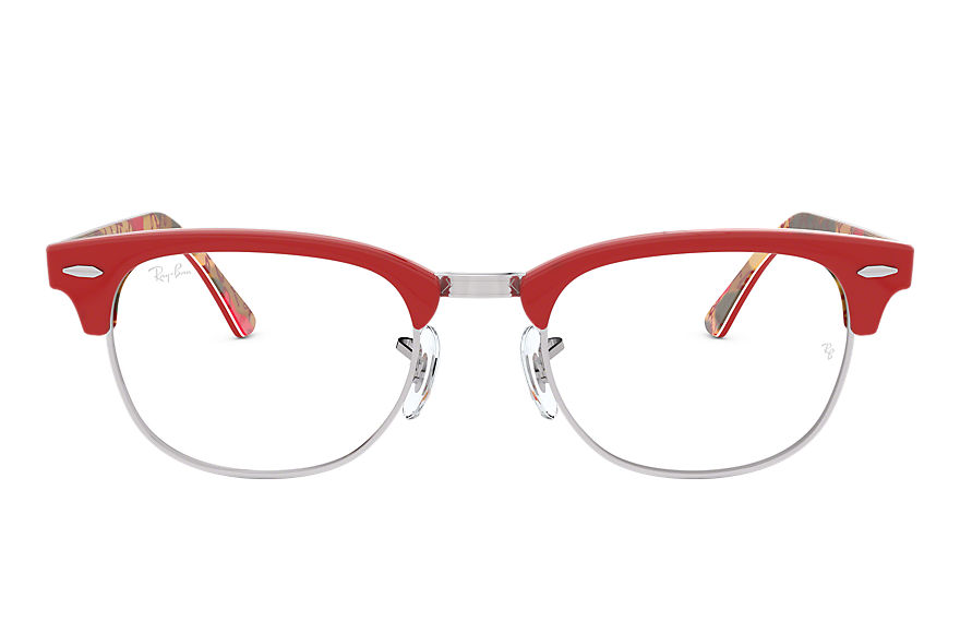 Ray-Ban  eyeglasses RX5154 UNISEX 015 clubmaster optics red 8053672616705