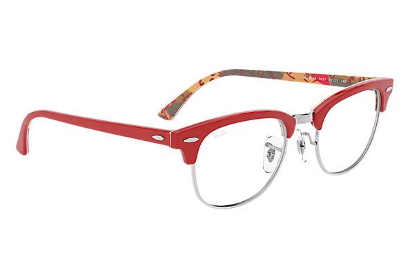 ce809011c52 Ray-Ban prescription glasses Clubmaster Optics RB5154 Red - Acetate ...