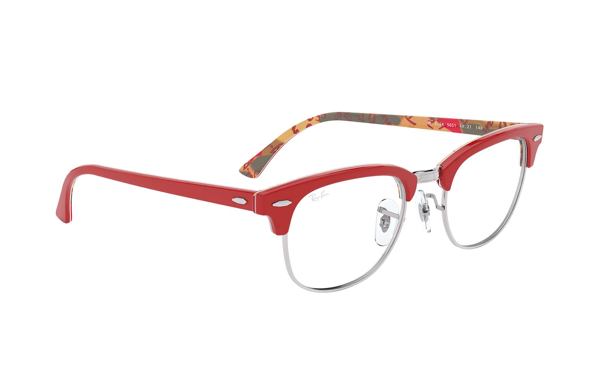 261911582bf Ray-Ban eyeglasses Clubmaster Optics RB5154 Red - Acetate ...